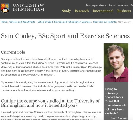 Sam-Cooley-university-of-birmingham-school-of-sport-and-exercise-sciences-bsc-graduate-psychology-press-release-media-@SamJoeCooley